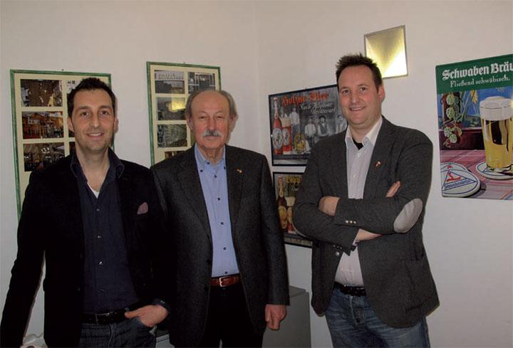 Nella foto, da sinistra, Andrea, Giancarlo e Matteo Ingegneri della ditta Bononia Marketing Service.